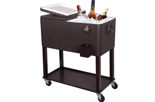 Top 10 Best Portable Outdoor Rolling Cooler Carts on Wheels Reviews 3