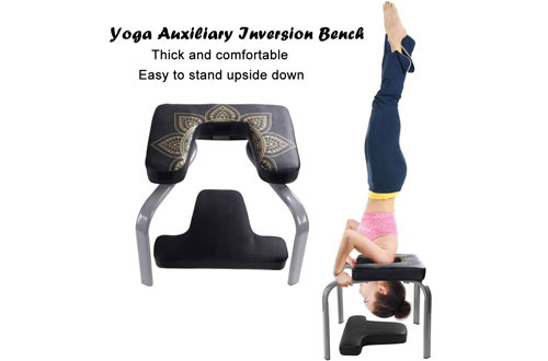 Scool Yoga Headstand Inversion Bench for Workout, Fitness and Gym