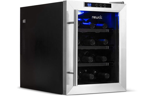 NewAir AW-121E 12 Bottle Thermoelectric Small Wine Cooler Fridge