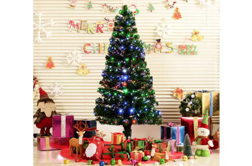 Top 10 Best Floor & Tabletop Fiber Optic Christmas Trees Reviews In 2019 3