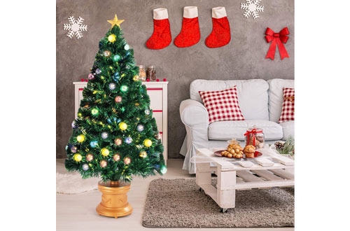 Top 10 Best Floor & Tabletop Fiber Optic Christmas Trees Reviews In 2019 1