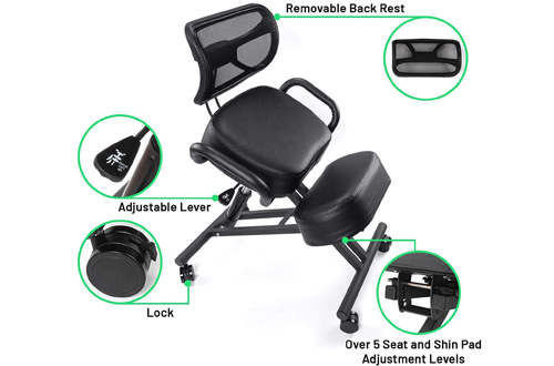 Chair Monk Kneeling Office Chair with Comfortable Memory Foam Cushion
