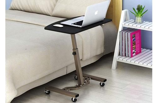 Le CrozzSHW Height Adjustable Rolling Laptop Desk Cart
