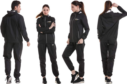 DNRZY Hooded Sweat Suits - Gym Exercise Workout Clothes Hooded Jacket Pants