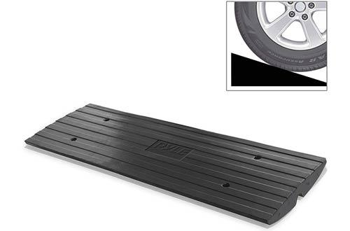 Pyle Car Driveway &Heavy Duty Rubber Car Ramps
