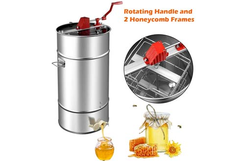 Goplus Manual Honey Extractors - Stainless Steel Honey Separator