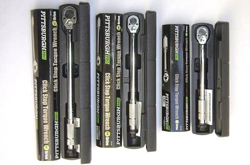 Pittsburgh Pro Reversible Click Type Torque Wrench Sets