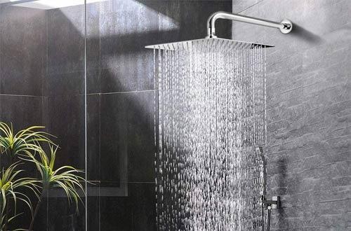 NearMoon Waterfall Full Body Square Rain Shower Heads with Extension Arm