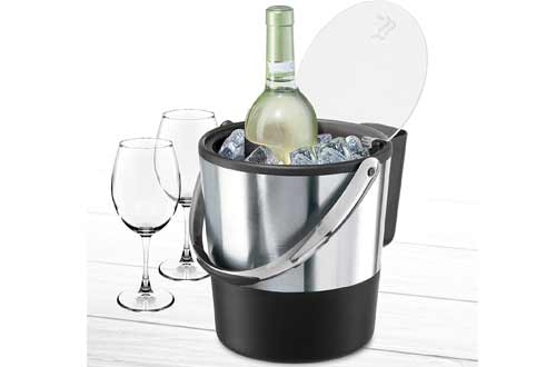 Insulated Bucket With Lid and Ice Scoop
