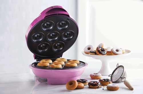 Brentwood Pink Mini Donut Maker Machine