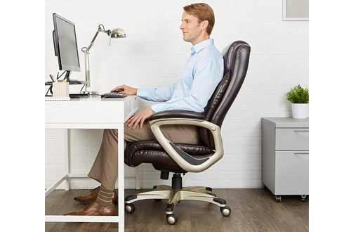 Brown Executive Computer Desk Chair