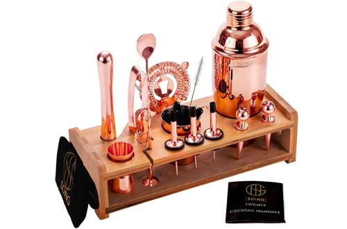 Soing Rose Copper Cocktail Shaker Sets