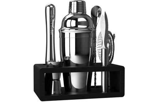 Highball & ChaserStainless Steel Cocktail Shaker Sets with Bar Tools