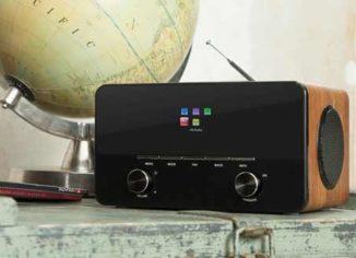 Auna Connect 150 Internet Radios with Remote Control, Walnut