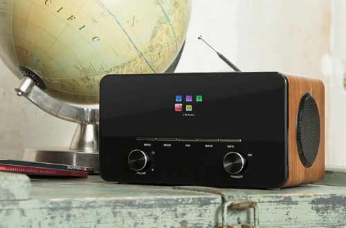 Auna Connect 150 Internet Radios with Remote Control, Walnut